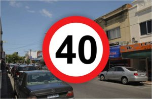Setting a speed limit of 40 km/h improve the sustainability of the city